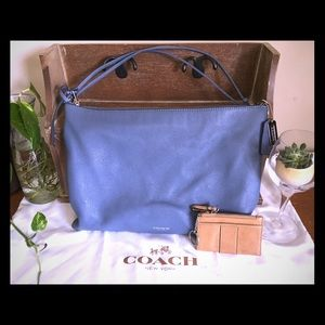 COACH Cornflower Blue Bleeker Daily Shoulder Bag